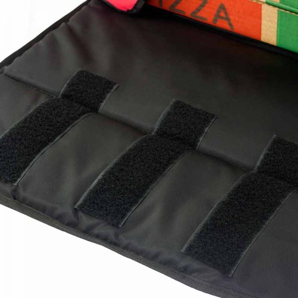 triple Velcro stripes embroidered