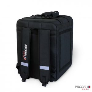 PRD 21-33 black backpack delivery bag from back