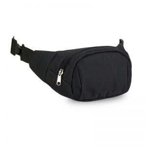 Prodel black waist bag with zipper