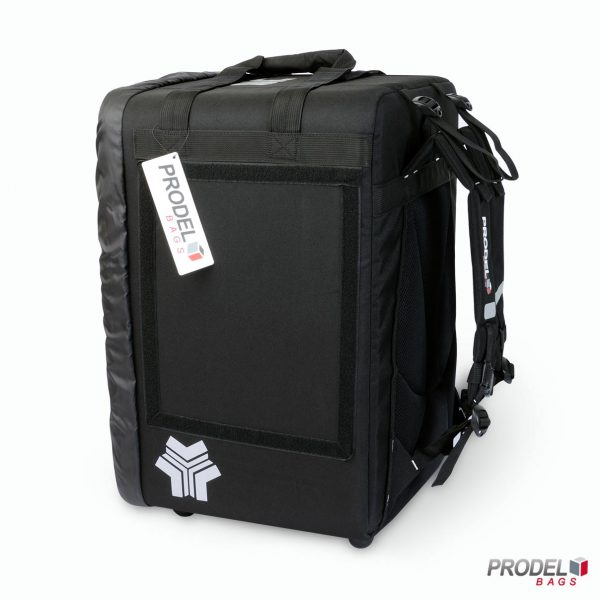 food delivery backpack side view