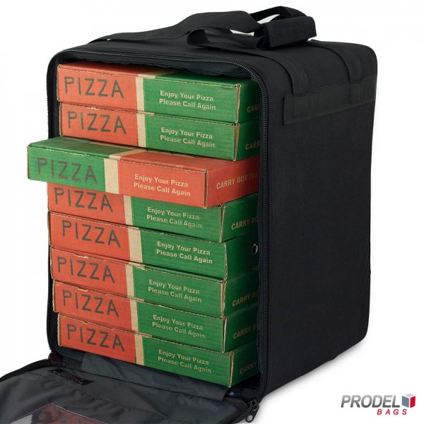 pizza boxes in the PRD 52-33 delivery bag