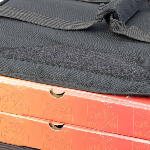insulated pizza bag velcro