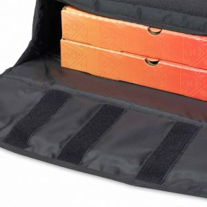 insulated pizza bag triple velcro