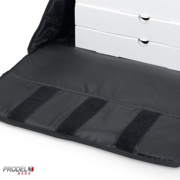 insulated pizza delivery bag triple velcro