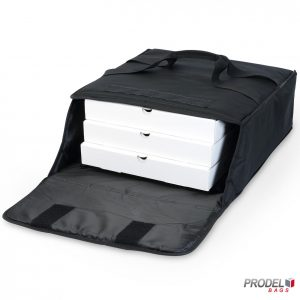 insulated pizza bag with pizza boxes