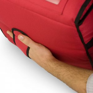 heated pizza delivery bag bottom handle