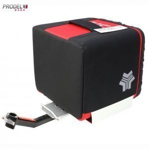 back view of delivery box for motorbikes with the attachment