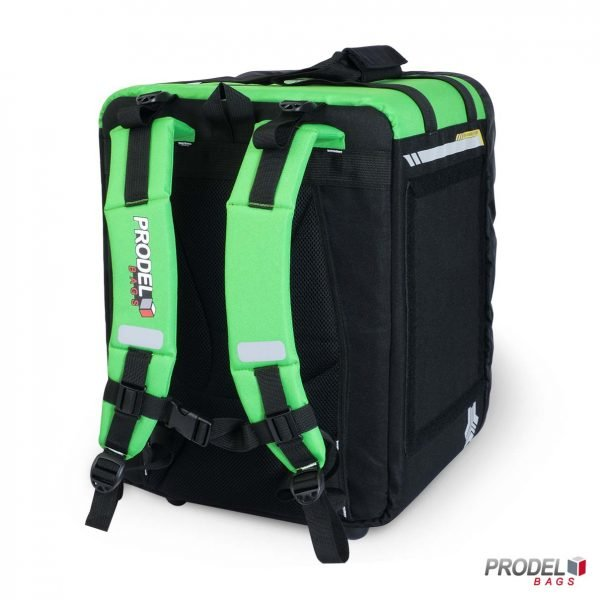 BYK green insulated bag back view