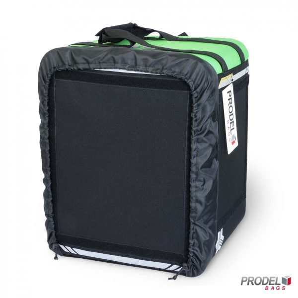 BYK green insulated bag for hot food delivery front view