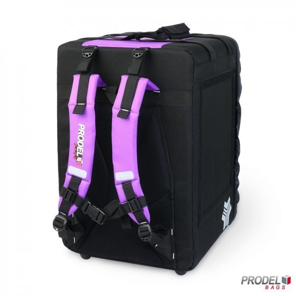BYK violet insulated bag for food transport back view