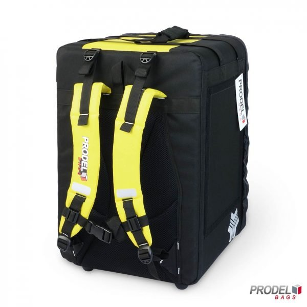 BYK yellow delivery bag for hot food back view