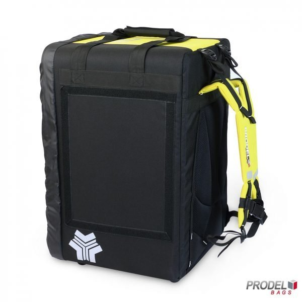 BYK yellow delivery bag side view