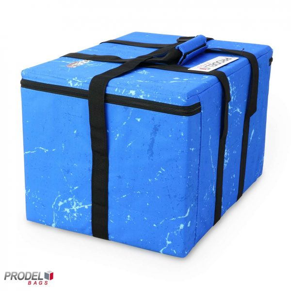 blue cooler bag size view