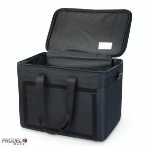 Insulated food carry bag top open