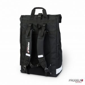 Prodel insulated messenger backpack back view