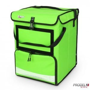 multi compartment food delivery backpack swift lc24 handle down